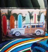 Blechschild mittel - Woodie / Surf Boards
