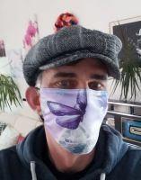 Stoff Maske - Schmetterling / lila mit Filter