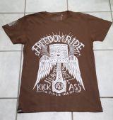 Batik Vintage Shirt - Freedom Ride / Braun - Limited Edition