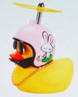 Ente mit Helm - Rosa / Hase