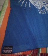 Queen Kerosin Batik Vintage Shirt / Ride or Die - blau