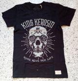 Vintage T-Shirt von King Kerosin - More Revs per Life Skull / Schwarz