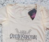 Queen Kerosin Limited Edition T-Shirt - Live your Dream / Vintage Weiss