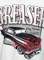 King Kerosin Regular T-Shirt Offwhite / Greaser - Gasoline Junkies