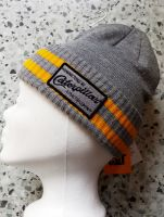 Caterpiller Beanie Strickmütze - CAT grey/yellow -