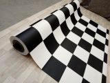 Checker PVC Flooring  - black / white