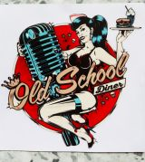 Pin up Sticker - Old School Diner