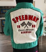 College / Baseball Jacket - Speedway Queen / Ecru & Mint