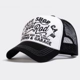 Trucker Cap von King Kerosin - Hot Rod / Black & White