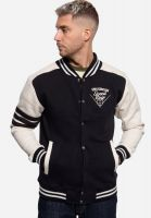 College Sweat Jacket - Speed Kings / Black - Ecru