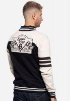 College Sweat Jacket - Speed Kings / Black - Ecru