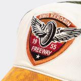 Vintage Trucker Cap - King Kerosin - Freeway / Grün-braun