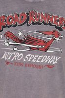 Acid Wash Roll-Up T-Shirt - Road Runners / grau
