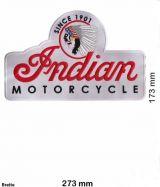 Rücken-Aufnäher / Patch - Indian Motorcycle / weiss
