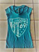 King Kerosin Girlie Longshirt   Nst2-S69 blau / Since 1969